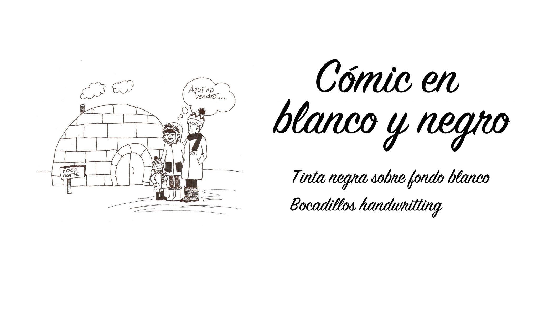 CÓMIC EN BLANCO Y NEGRO