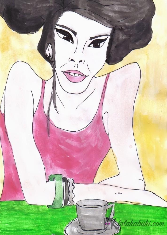 """Japonesa con Café"" por Lola Kabuki"