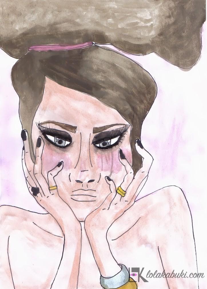 """""""Joven Pensativa"""" por Lola Kabuki"""