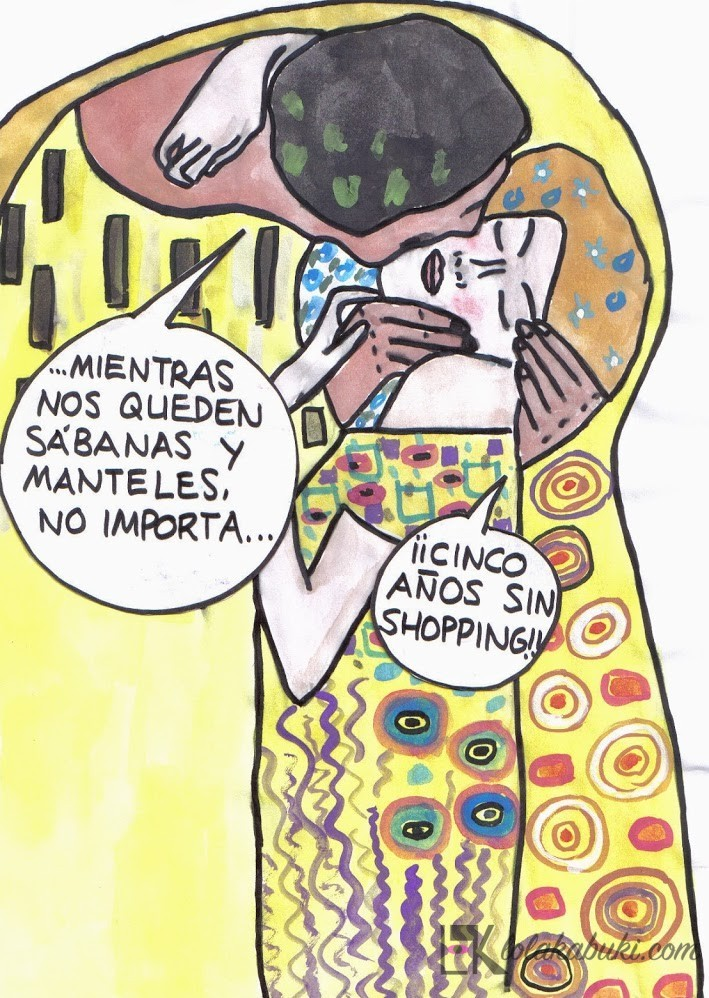 """Stopcompras-Klimt"" por Lola Kabuki"