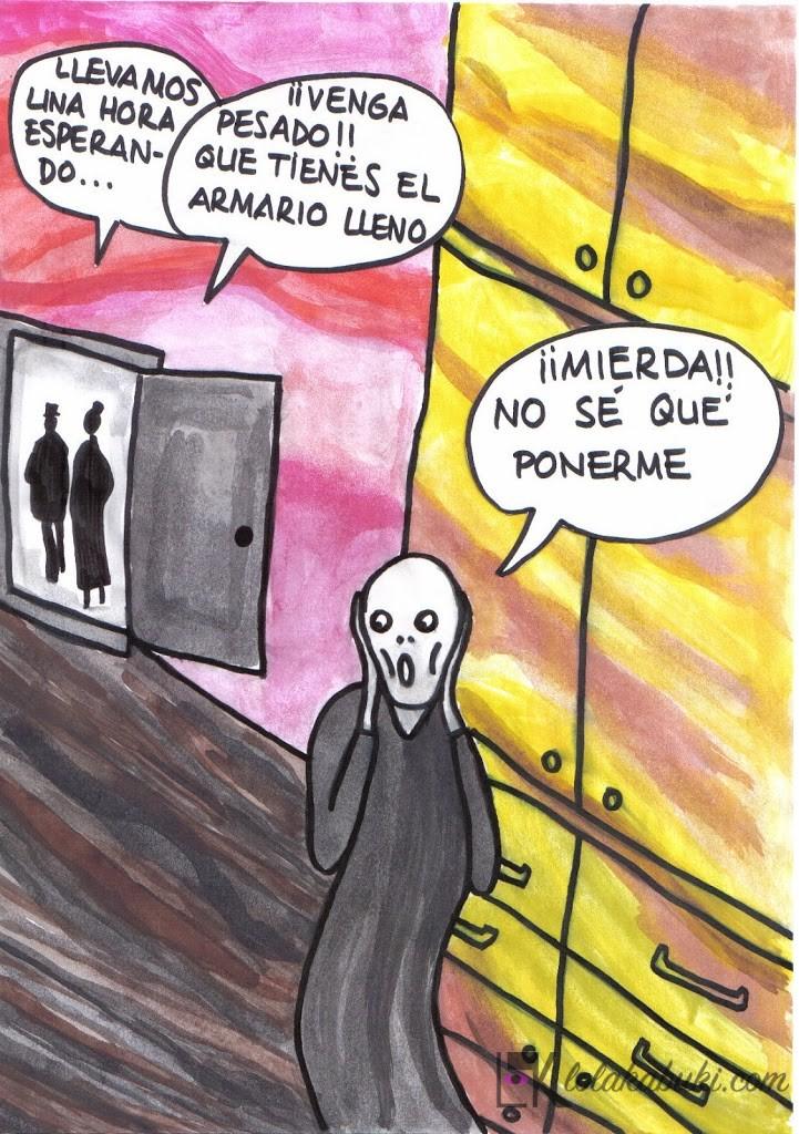 """Stopcompras-Munch"" por Lola Kabuki"