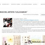 LOLA KABUKI FORMA PARTE DE LOS ARTISTAS DE LA WEB ARTINPOCKET