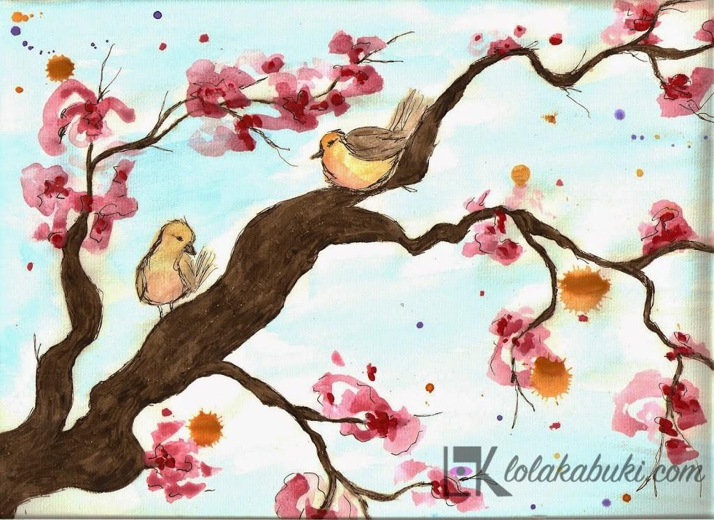 Pájaros abocetados