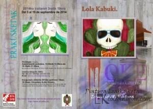 EXPOSICIÓN EN LA OKE DE ACUARELAS DE LOLA KABUKI