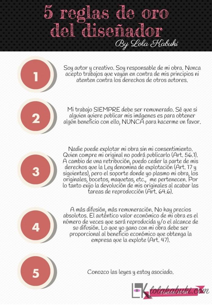 5 reglas de oro del diseñador