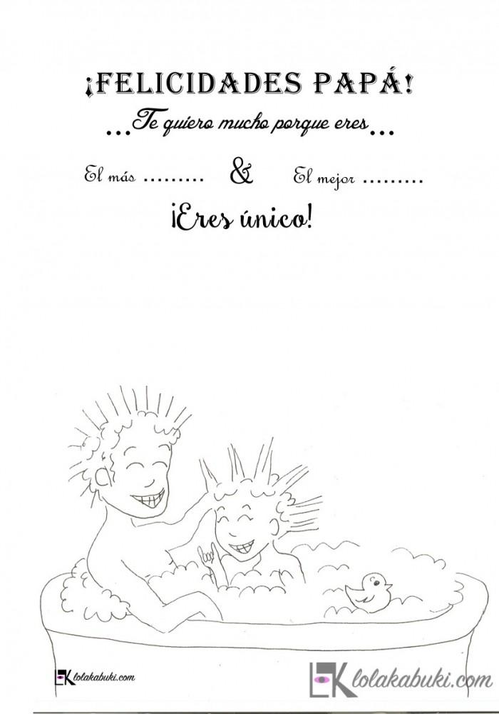 "Postal Día del Padre ""Bañera"""