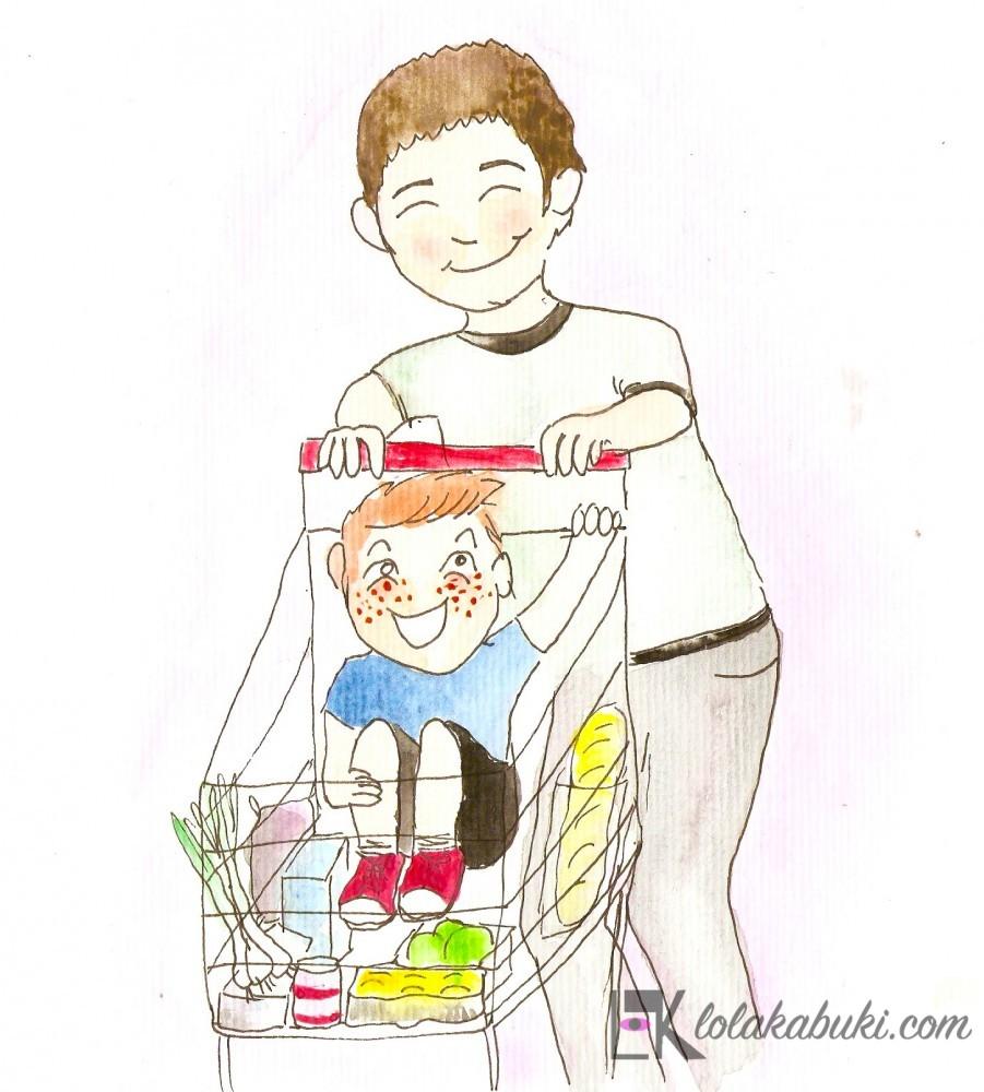"""Postal Día del Padre """"Supermercado"""""""