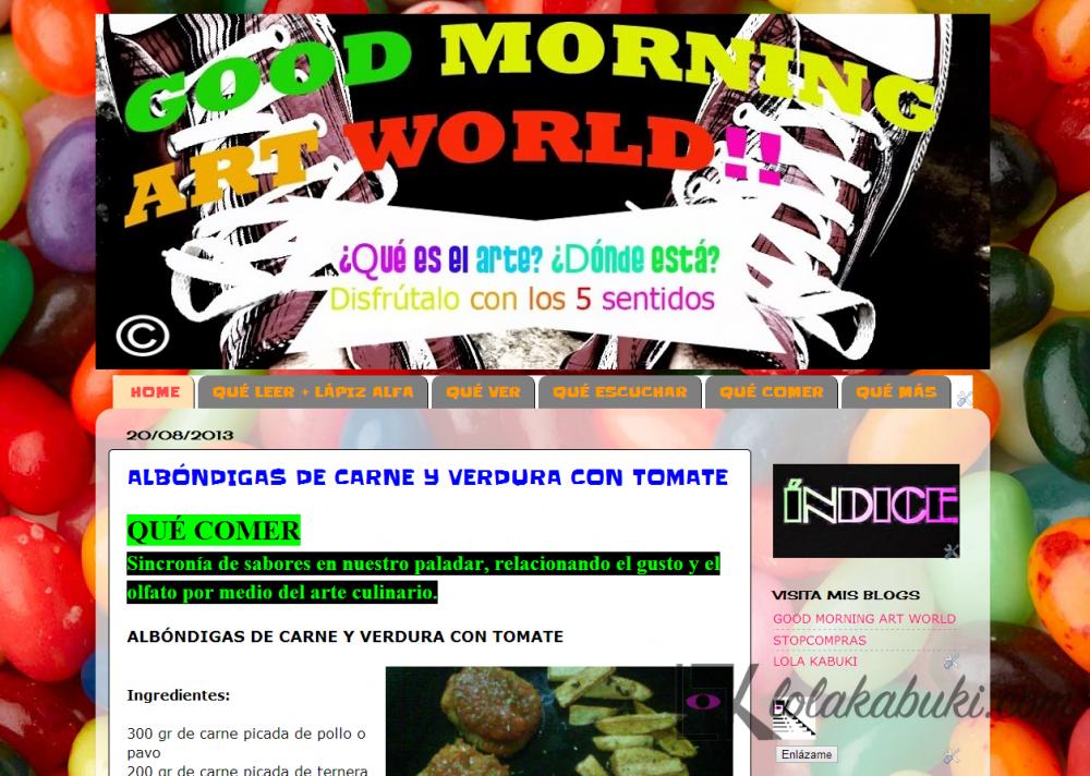 GOOD MORNING ART WORLD 2012