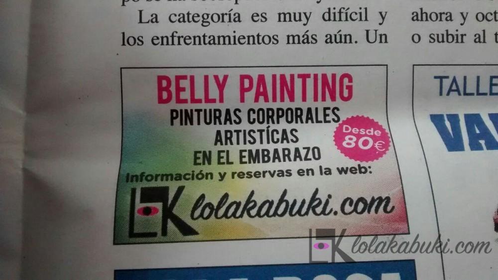 ANUNCIO PRENSA LOLA KABUKI/BELLY PAINT
