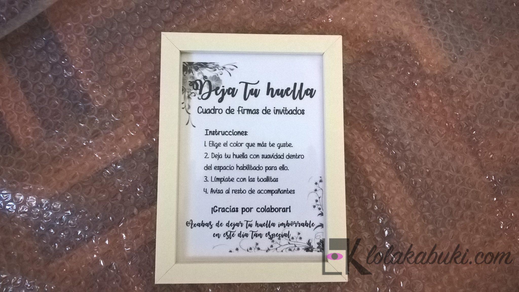 instrucciones pintura de huellas
