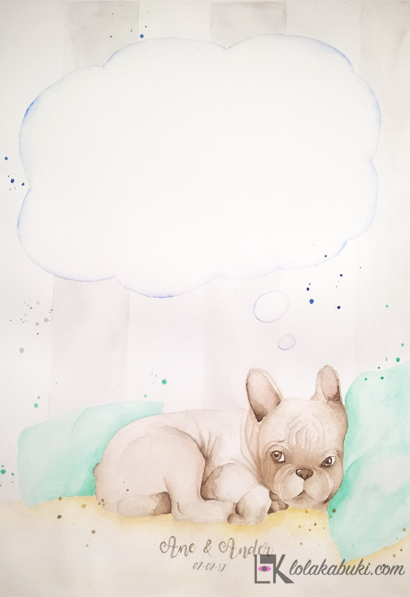 pintura de huellas mascota bulldog frances lola kabuki (3)
