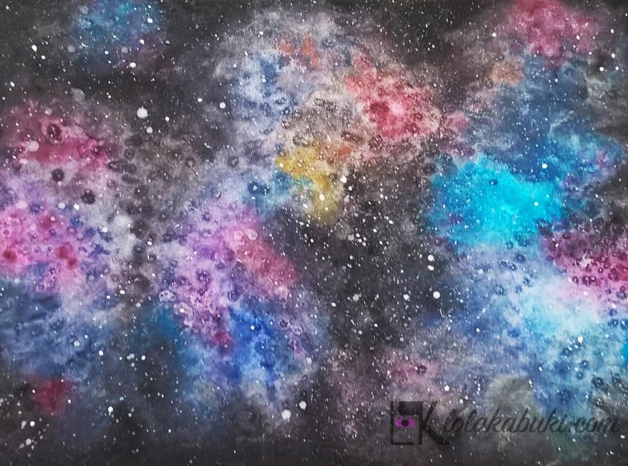 lola kabuki galaxia acuarela
