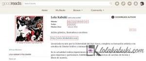 PERFIL DE AUTOR: LOLA KABUKI EN GODREADS