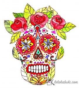 KATRINA MEXICANA EN ACUARELA Y TINTA