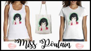 MISS POULAIN, ACUARELA INSPIRADA EN AMELIÈ